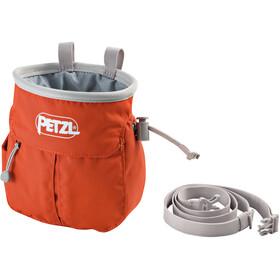 Petzl Sakapoche - Bolsas para Tiza & Boulder - rojo